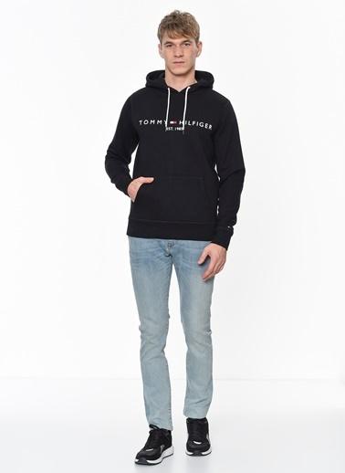 Tommy Hilfiger Kapüşonlu Sweatshirt Siyah